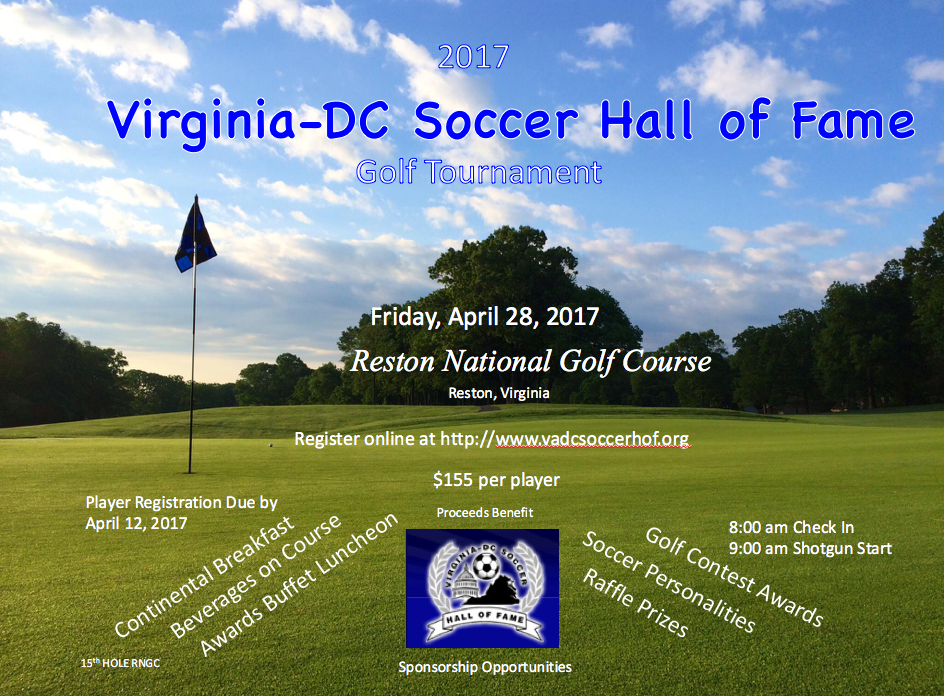 VA-DC Soccer Hall of Fame Golf Tournament - April 28, 2017